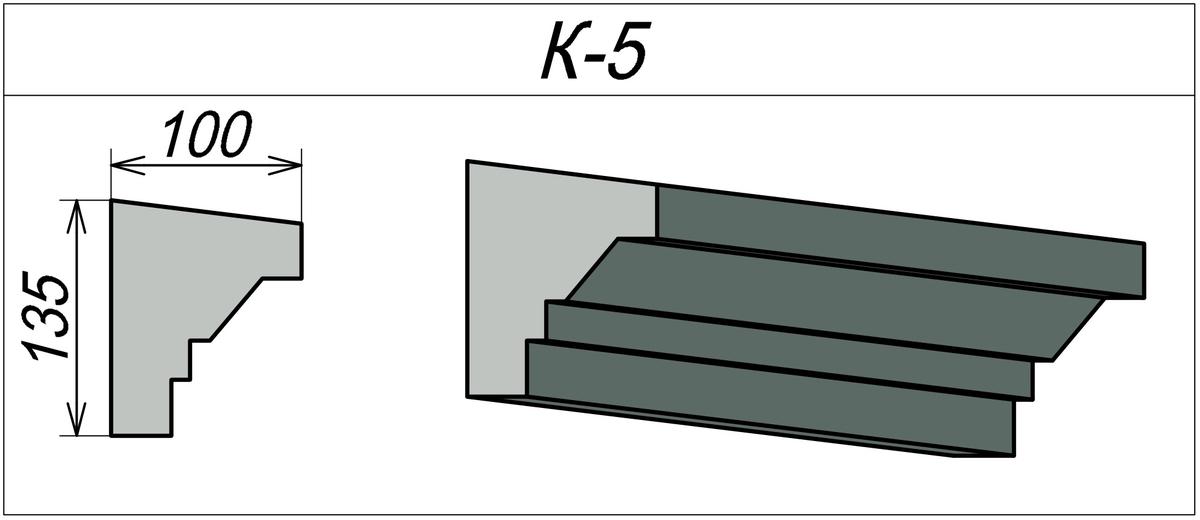 Фасадный карниз из пенопласта К-5