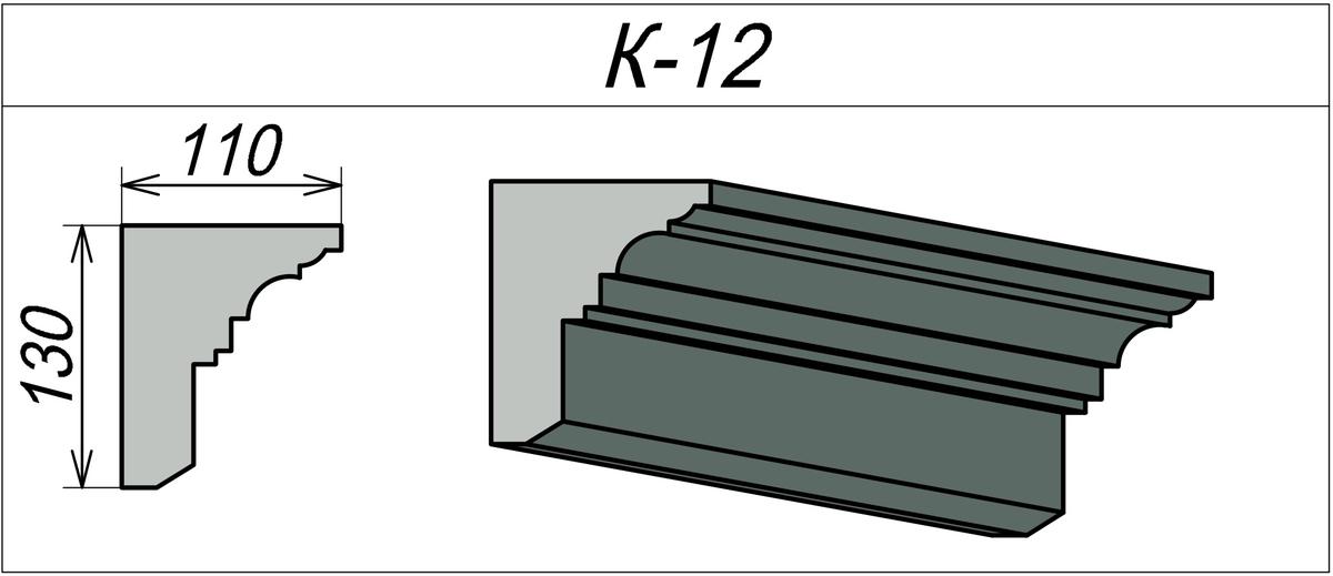 Карниз фасада здания К-12