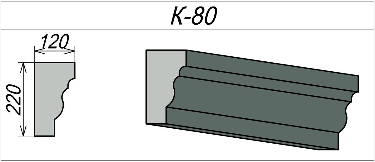 Фасадный карниз для дома К-80