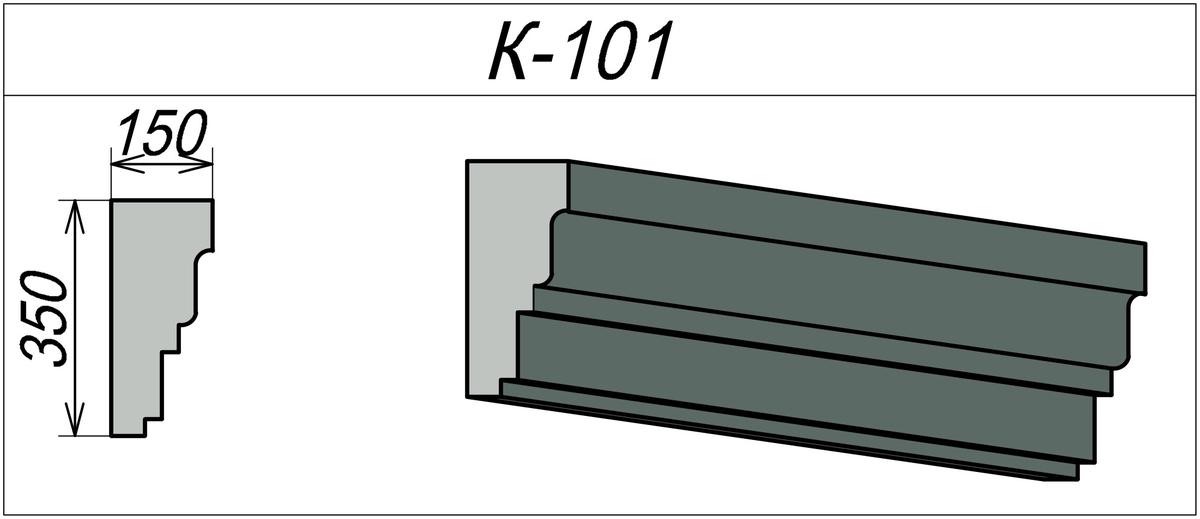 Карниз из пенопласта с покрытием К-101
