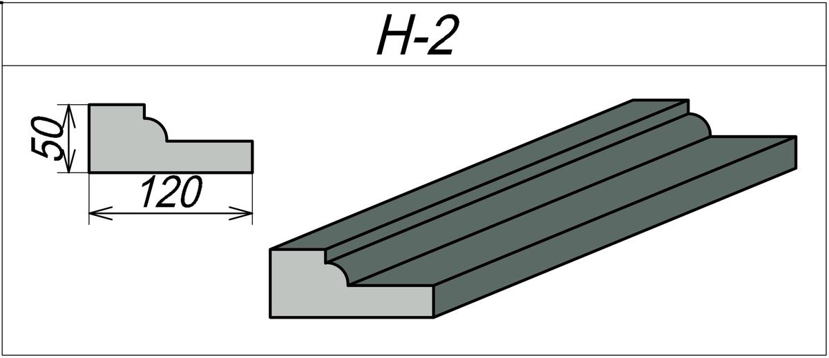 Наличник из пенопласта H-2