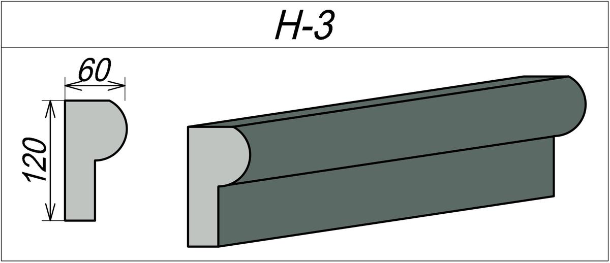 Наличник пенопластовый H-3