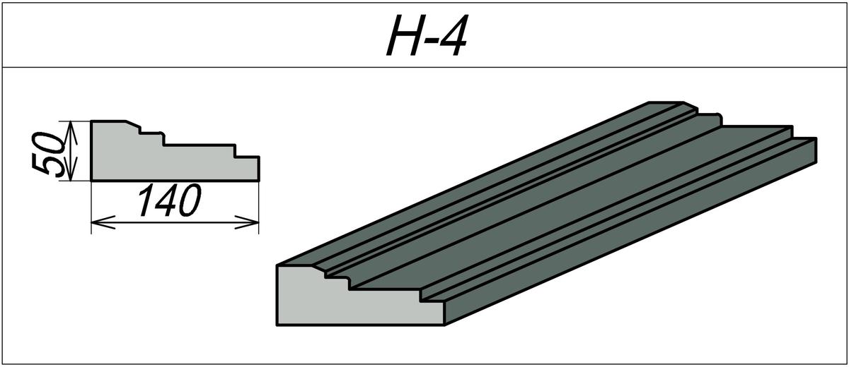 Наличник пенополистироловый H-4
