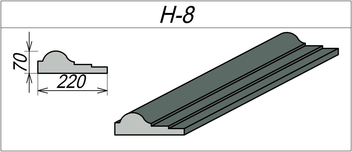 Наличник на каменный дом H-8