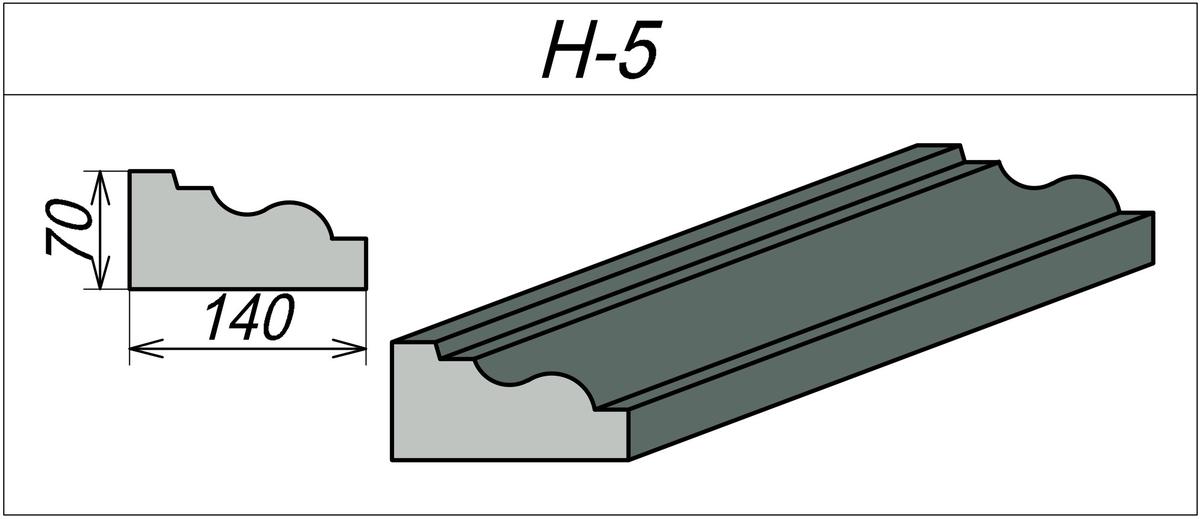 Наличник арочный H-5