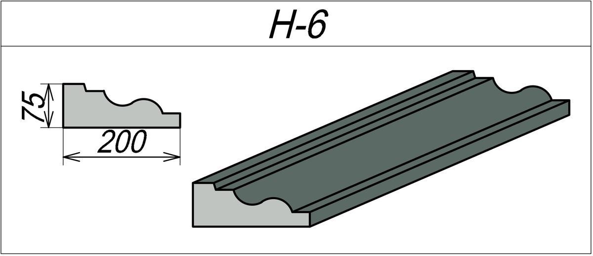 Наличник Гипсовый H-6