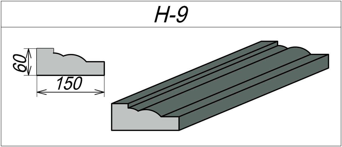Наличник на окно из пенополистирола H-9