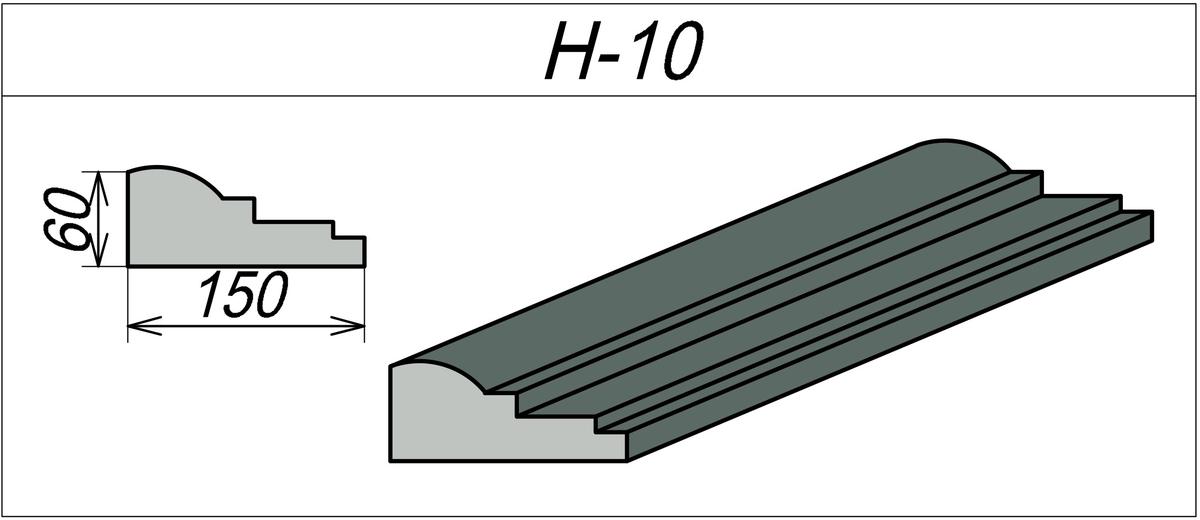 Наличники фасадные H-10