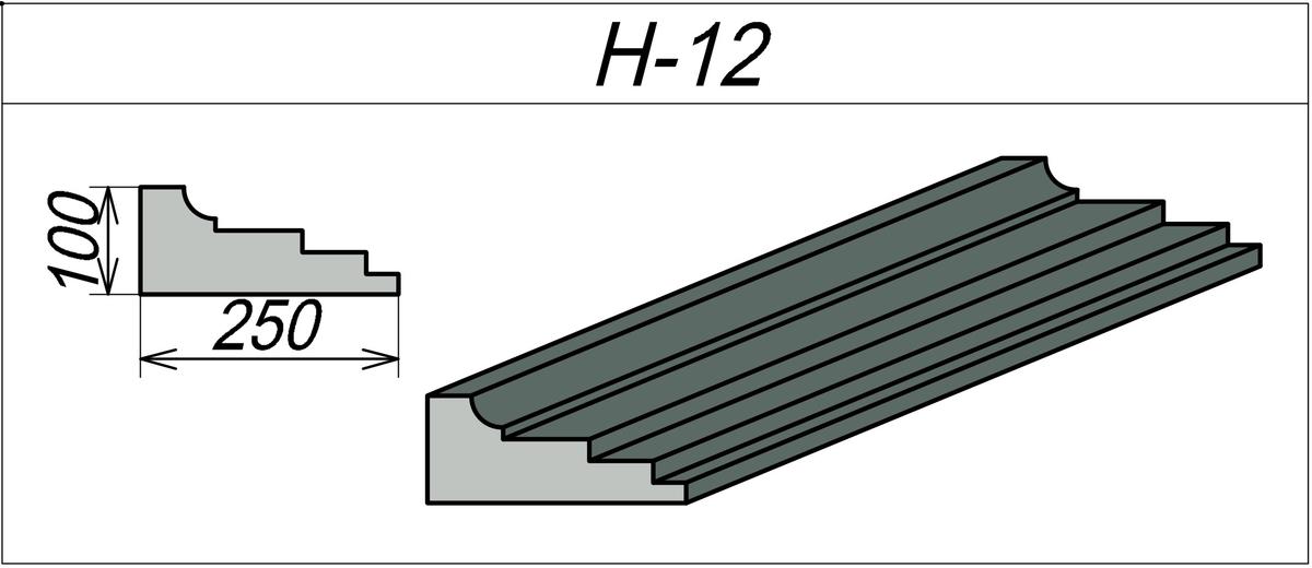 Наличник пенополистироловый H-12