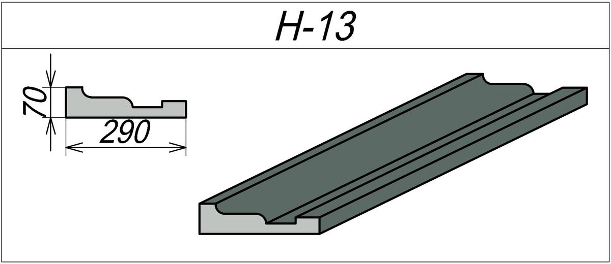 Наличник пенопластовый H-13