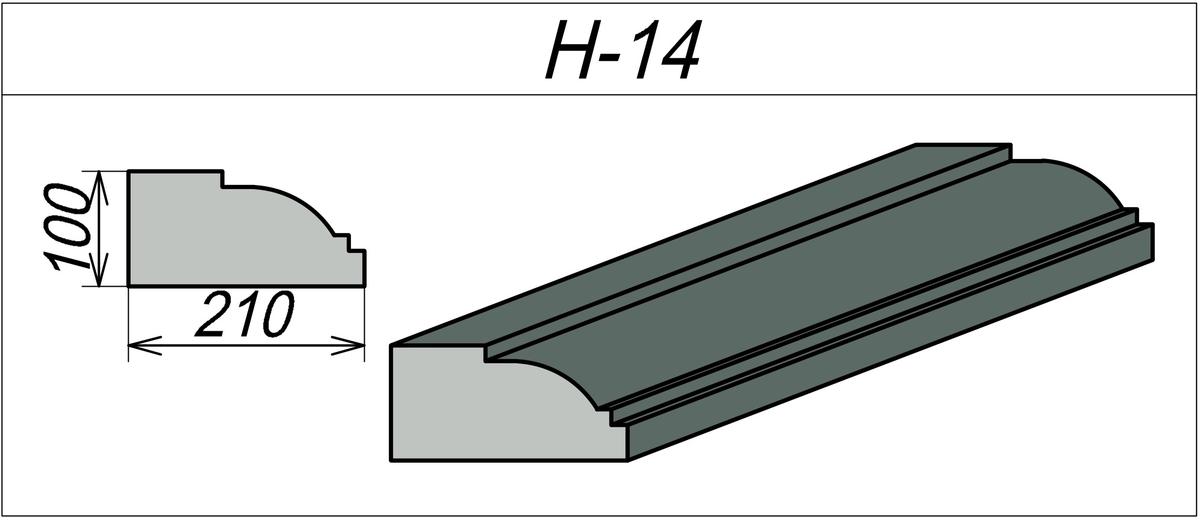 Наличник из пенопласта H-14