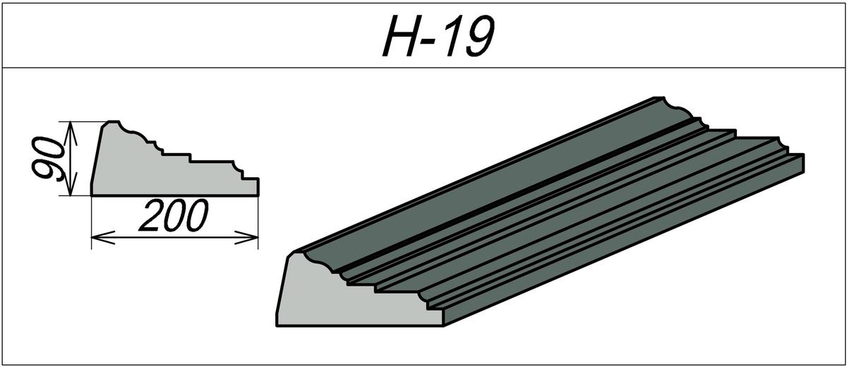 Наличник декоративный H-19