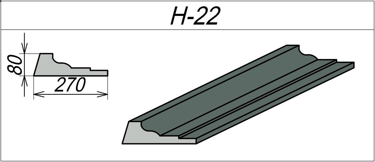 Наличник из пенопласта H-22