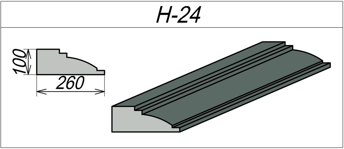 Наличник пенополистироловый H-24