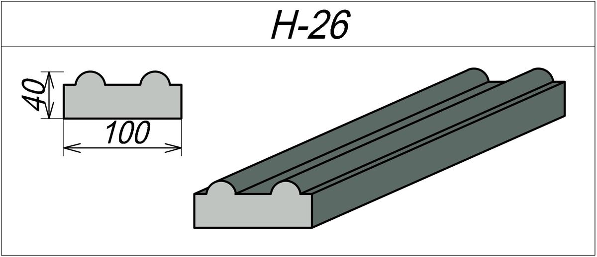 Наличник Гипсовый H-26