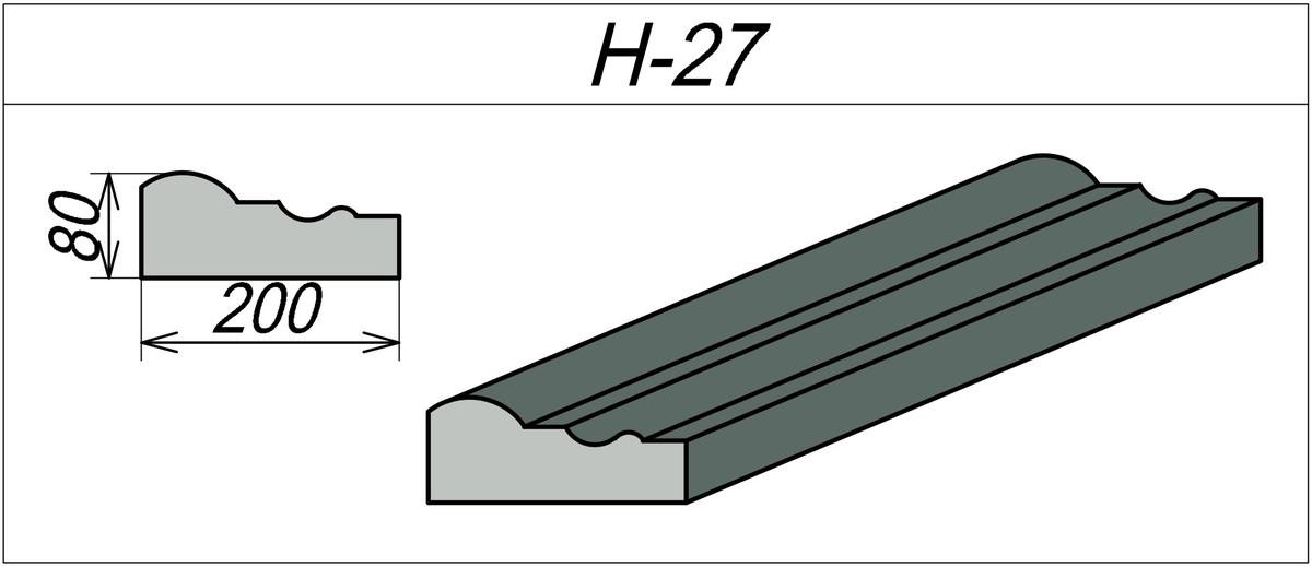 Наличник декоративный H-27