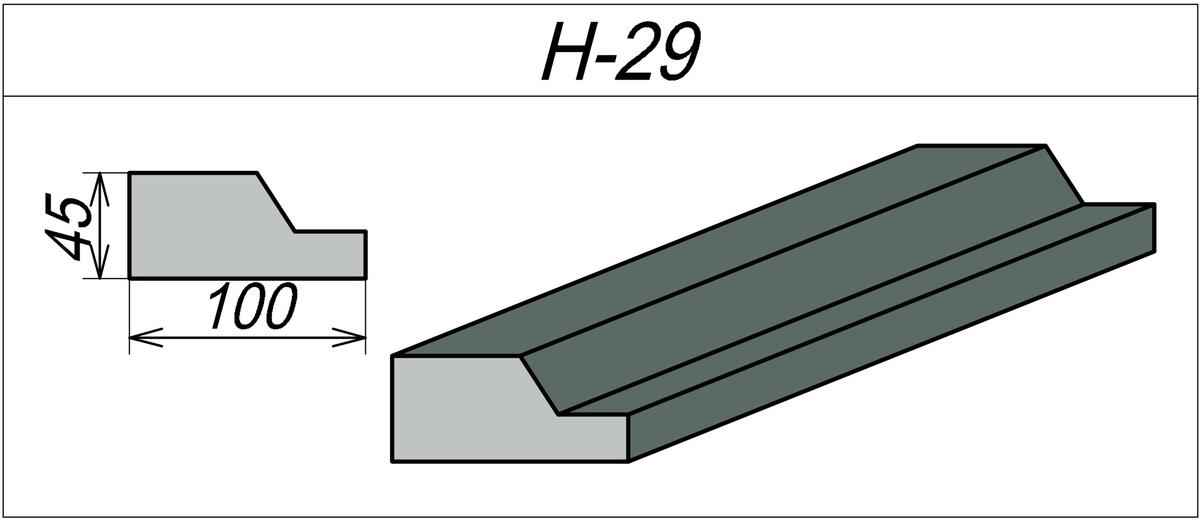 Наличник на окно из пенопласта H-29