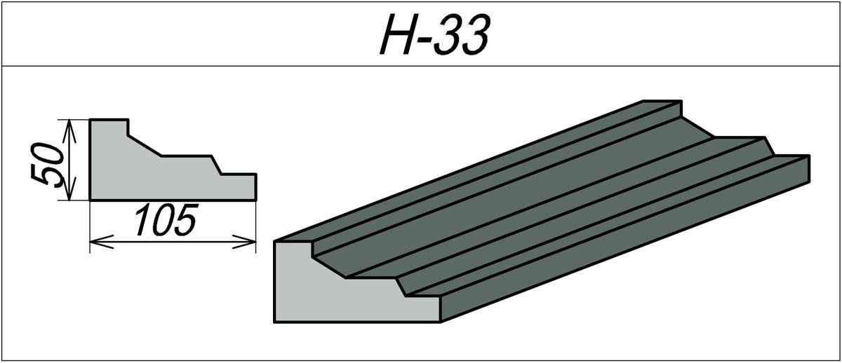 Наличник пенопластовый H-33