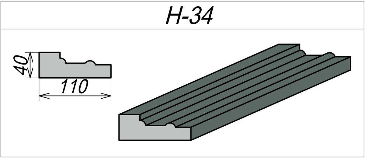 Наличник из пенопласта H-34