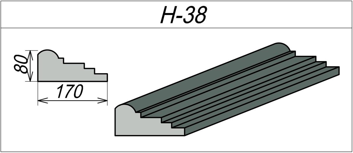 Наличник на каменный дом H-38
