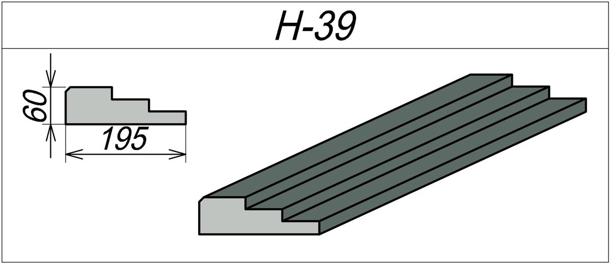 Наличник декоративный H-39