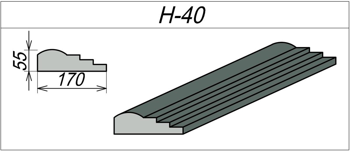 Наличник Гипсовый H-40