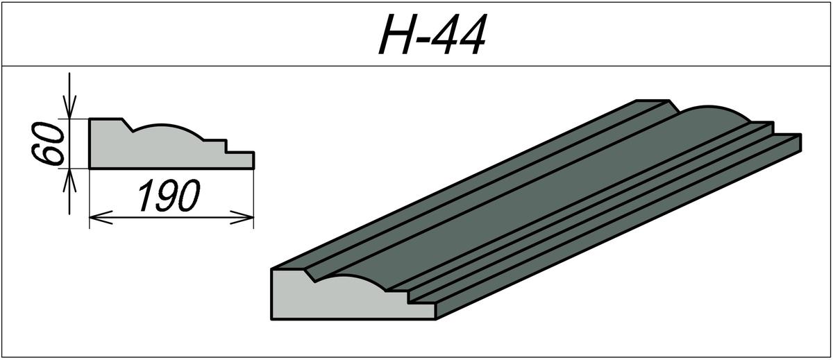 Наличник из пенопласта H-44
