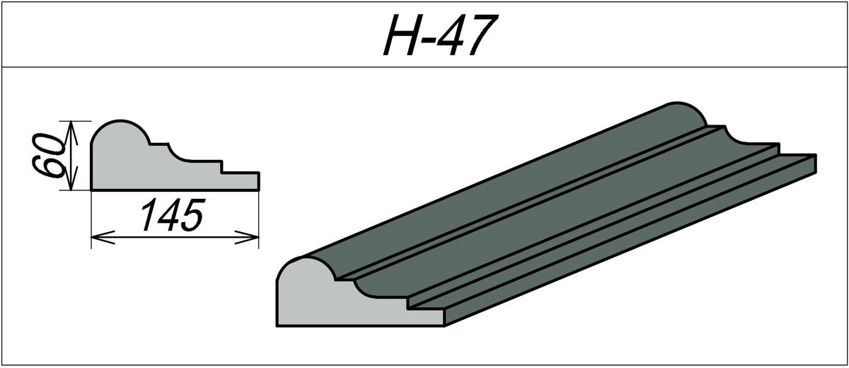 Наличник декоративный H-47