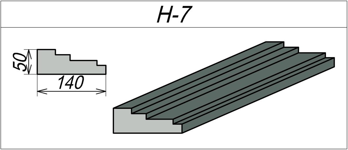 Наличник декоративный H-7