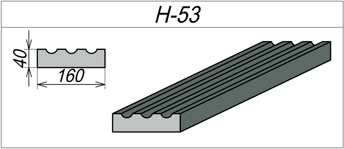Наличник пенопластовый H-53