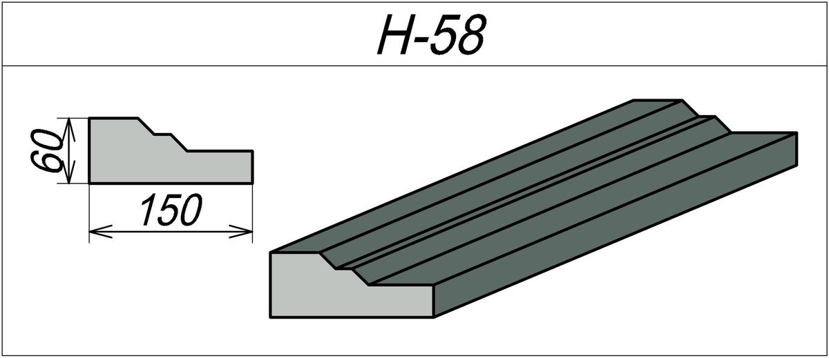 Наличник на каменный дом H-58