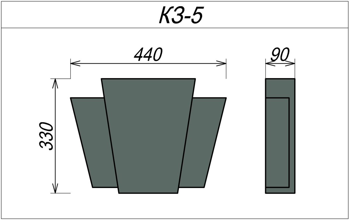 Замковый камень для наружных стен КЗ-5