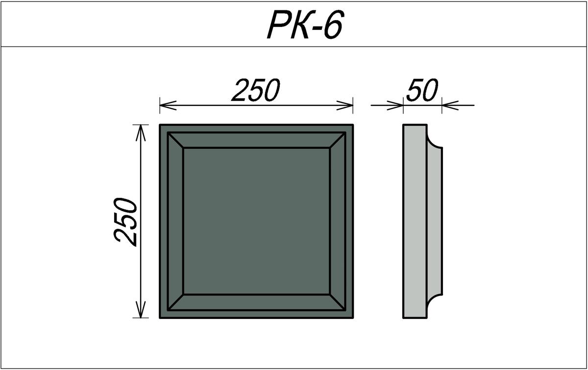 Рустовый камень из пенополистирола РК-6
