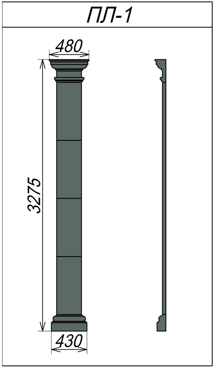 Пилястра из пенопласта ПЛ-1