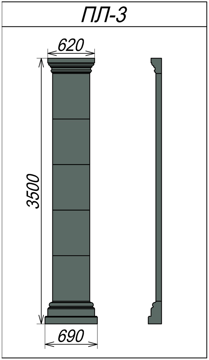 Архитектурная пилястра ПЛ-3