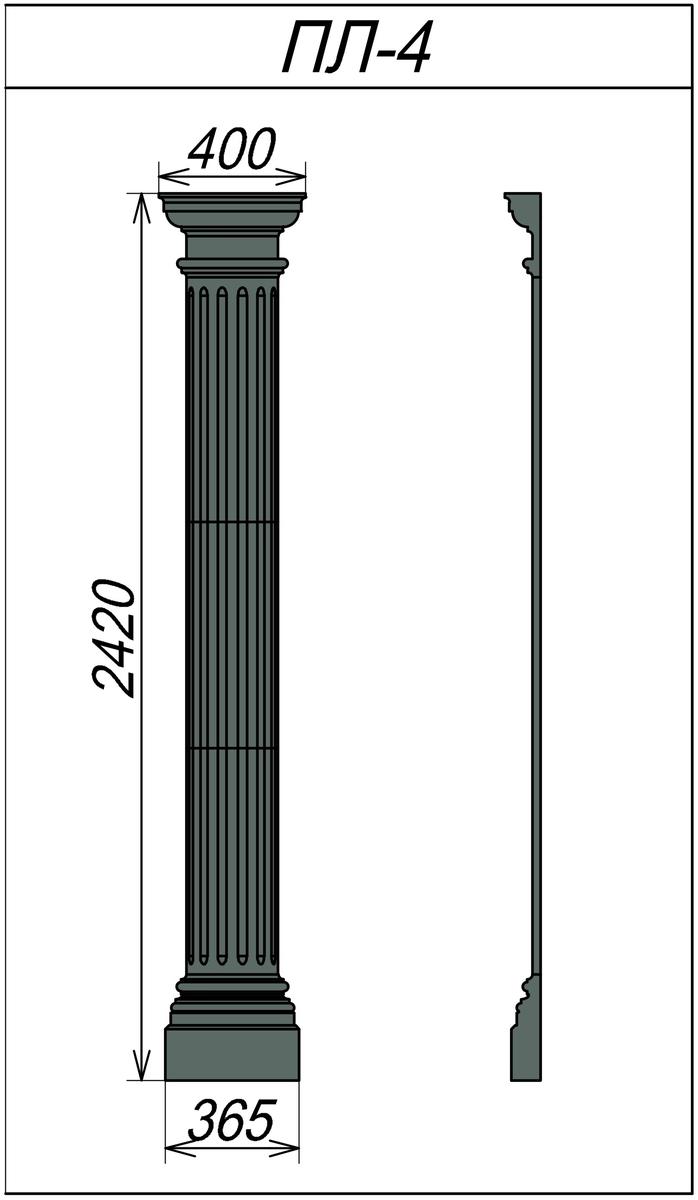 Горизонтальная пилястра ПЛ-4