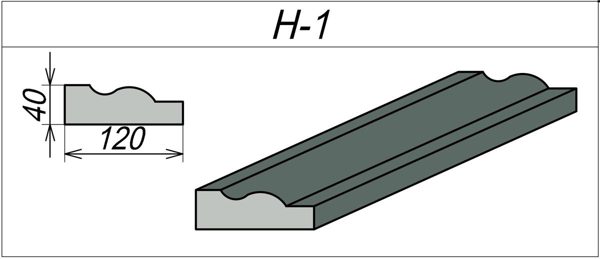 Наличник для арки H-1