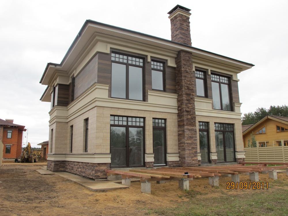 Фасад домов в стиле фахверк фото